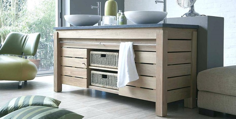mueble baño doble natural