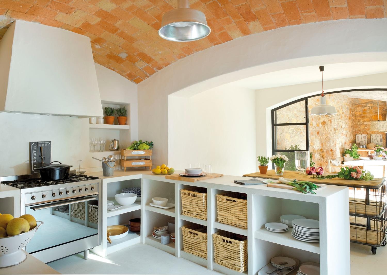 cocinas de obra rustica