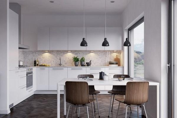 iluminacion de muebles en la cocina