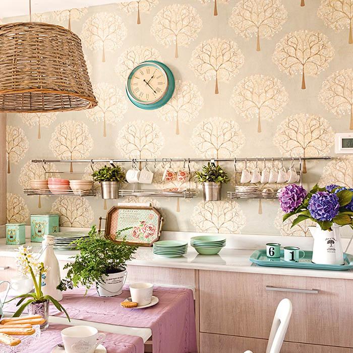 Papel pintado naturaleza cocina