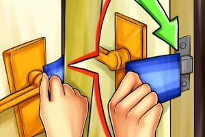 Como abrir puerta con una radiografia