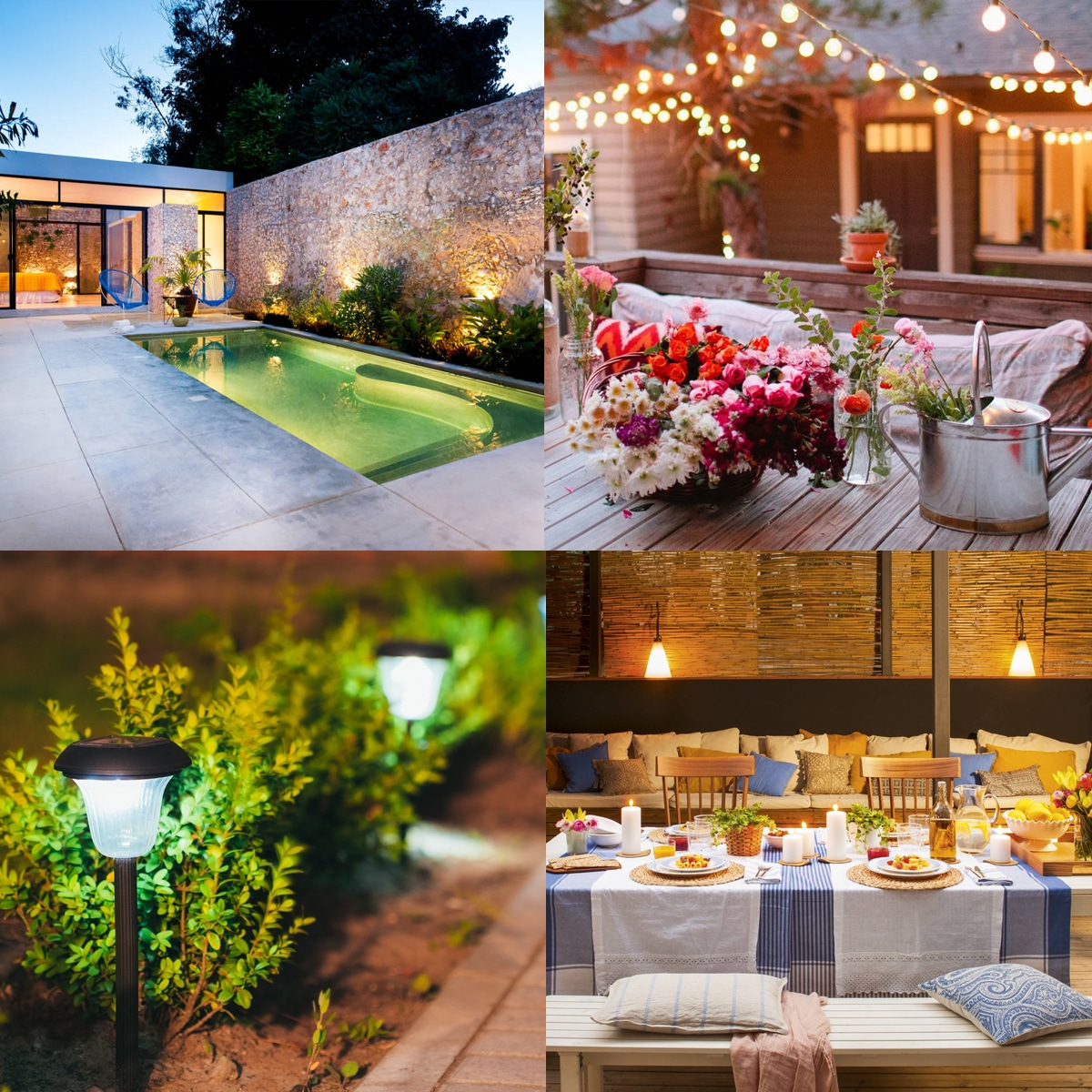 tipos de iluminacion jardin