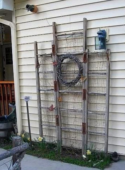 usos diferentes para escaleras en la decoracion para el jardin