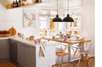Como integrar una cocina en el salon