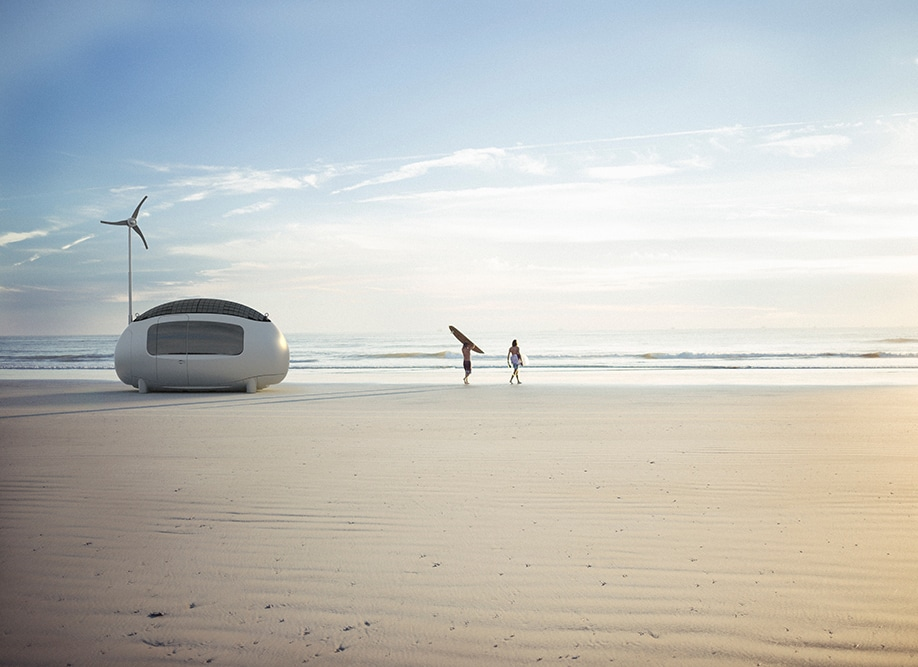 La Ecocapsula, la nueva mini casa ecologica con energia solar y eolica
