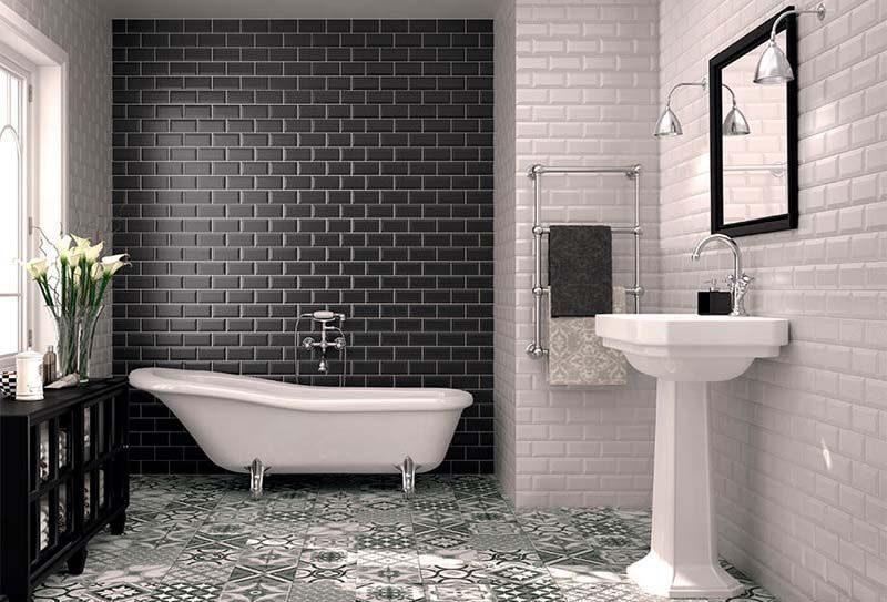 Azulejos tipo metro para revestimientos de baños