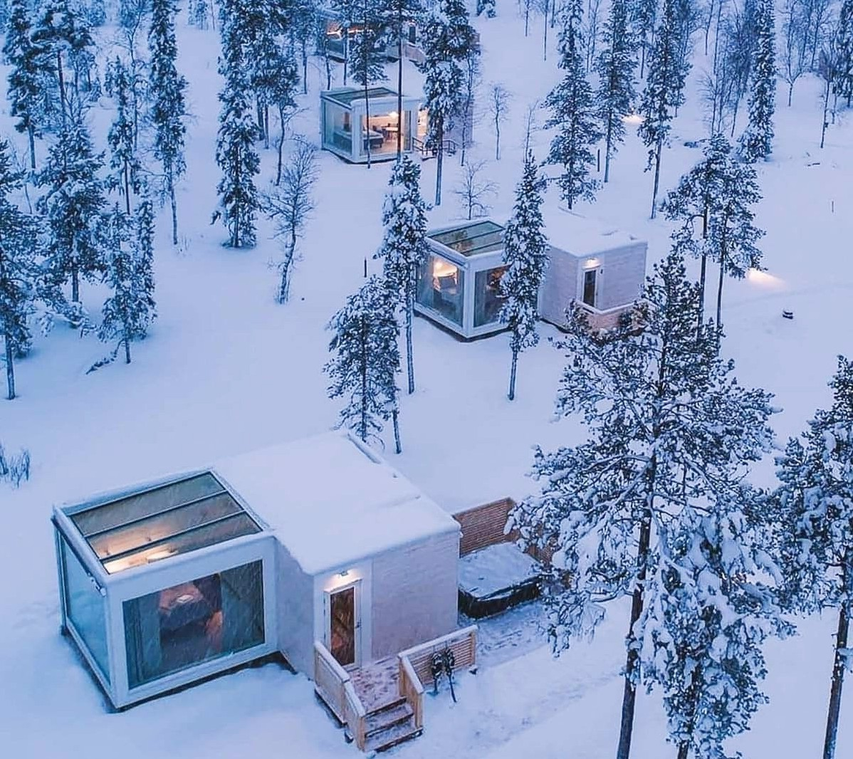 Así es primer resort de casas prefabricadas en un bosque